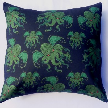 Cthulhu Cushion Pillow Lovecraft Alien Couture
