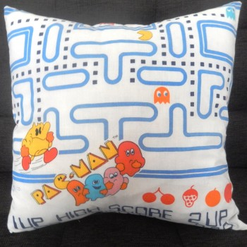 Pacman cushion alien couture pillow
