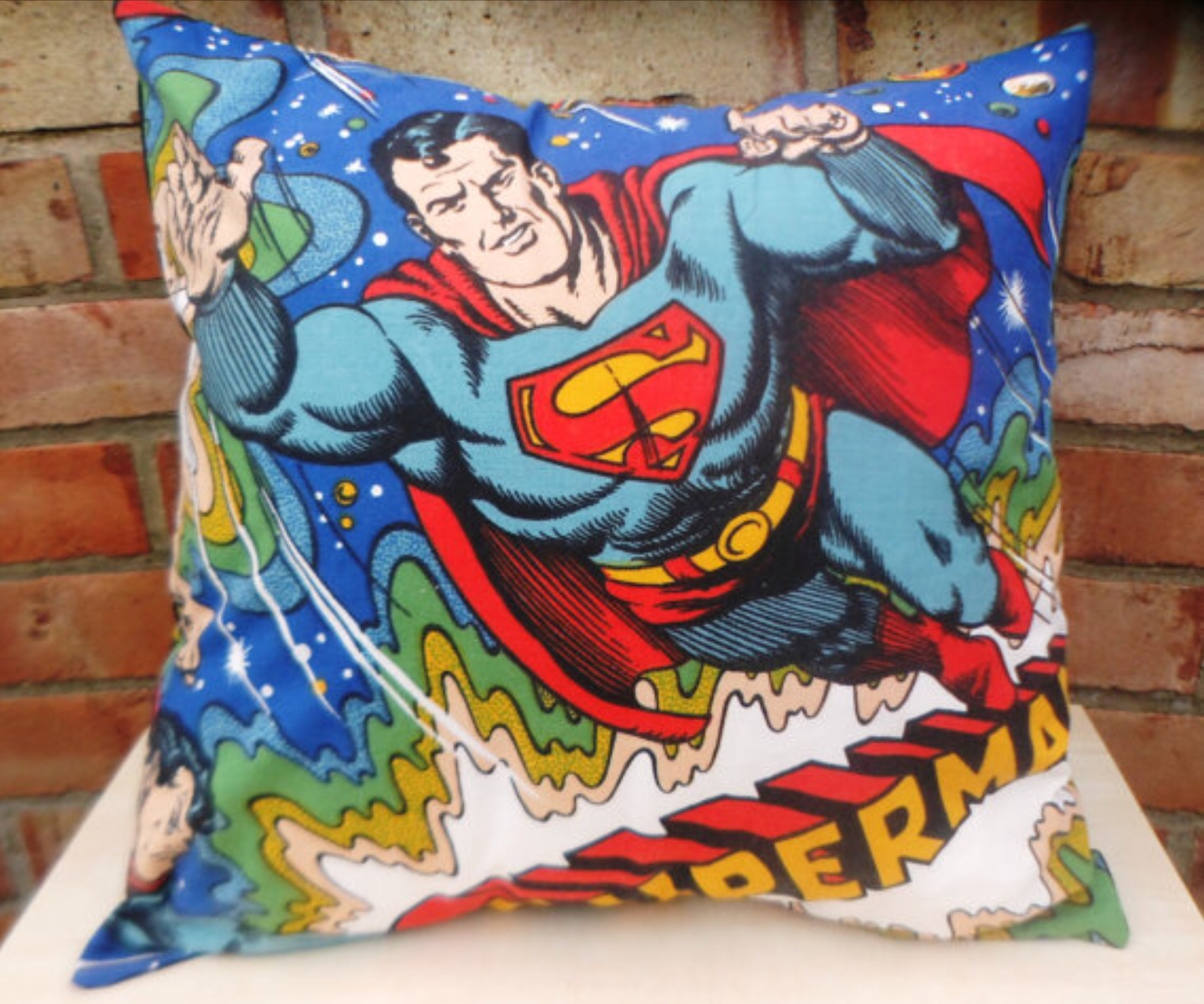 handmade by Alien Couture Tom /& Jerry Cushion Cartoon Vintage Fabric